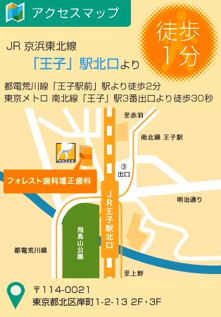アクセスマップ 東京都北区岸町1-2-13 2F・3F